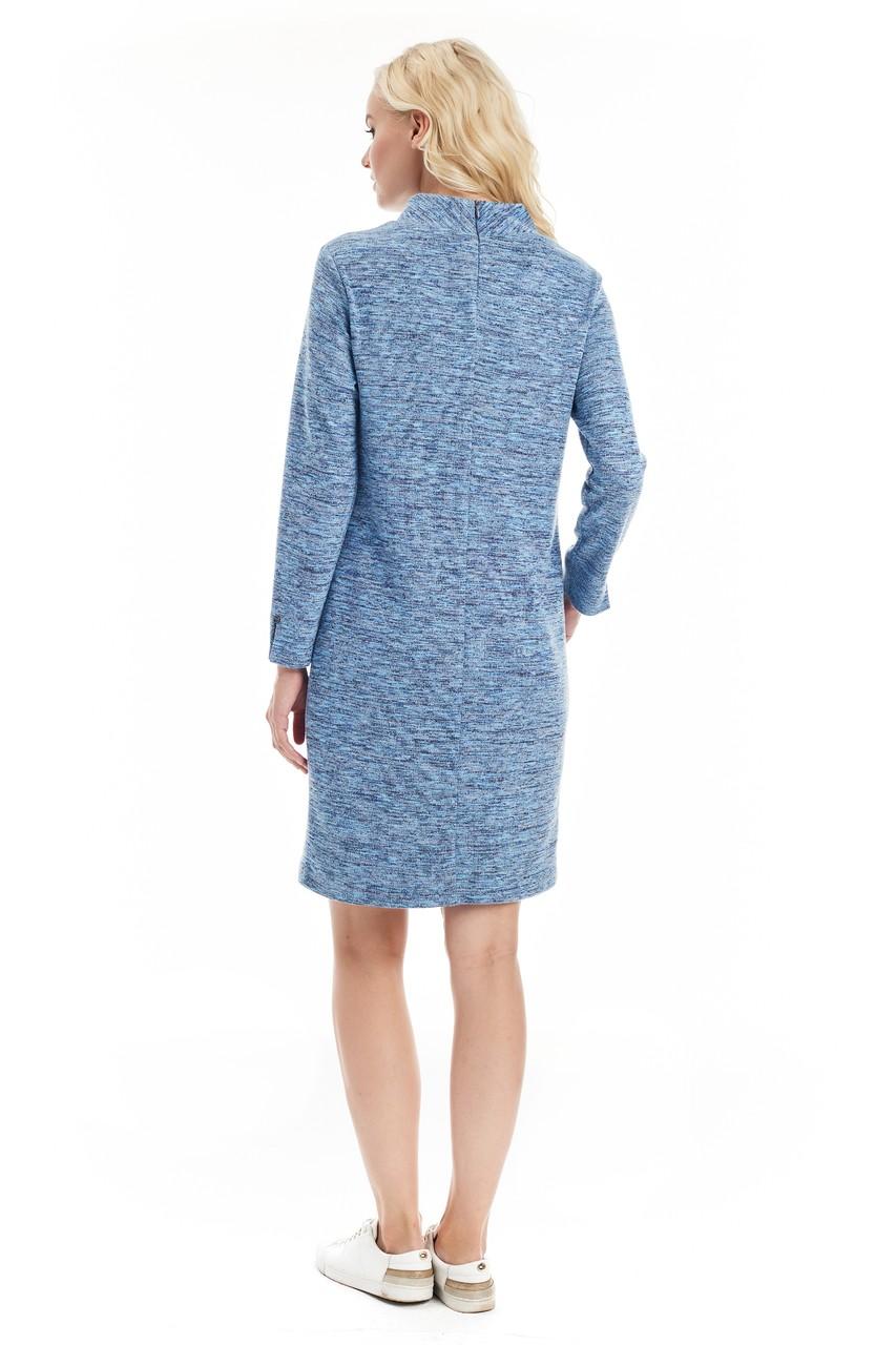Теплое шерстяное платье LalaStyle W01066