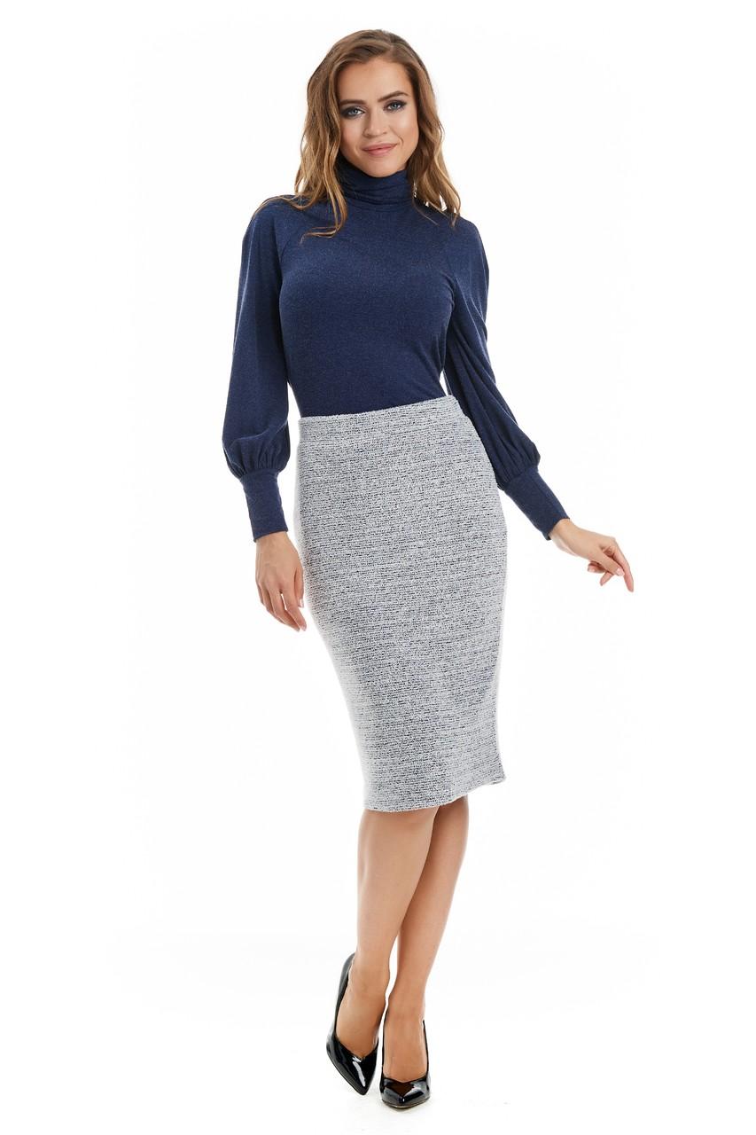 Модная юбка средней длины LalaStyle W10067