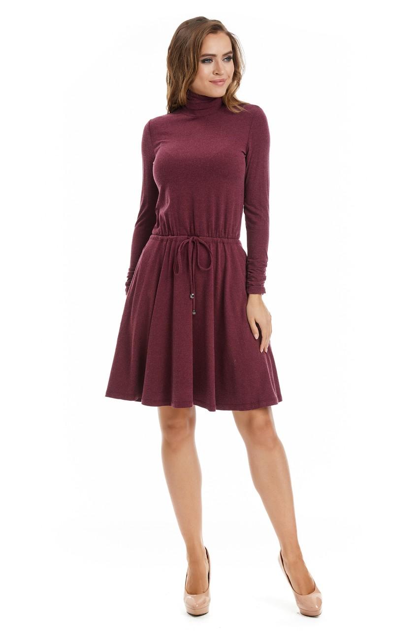 Платье с горловиной стойка LalaStyle W01085