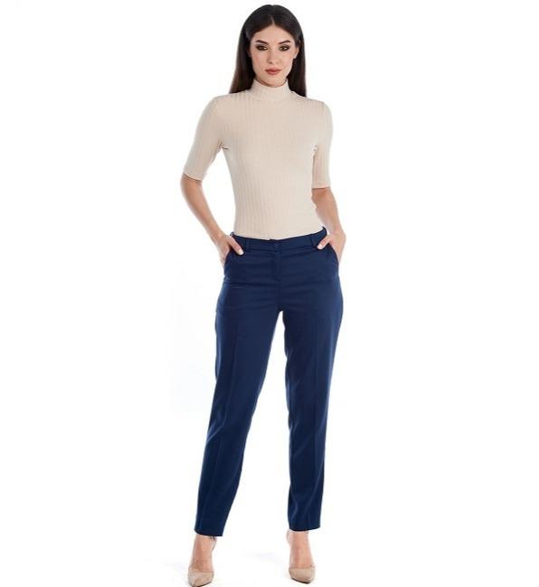 Синие брюки Lala Style W11012