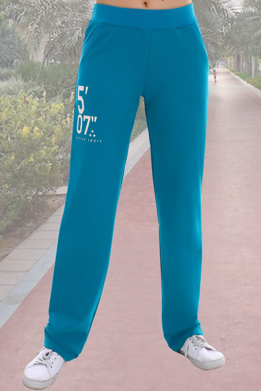 Бирюзовые брюки в спортивном стиле