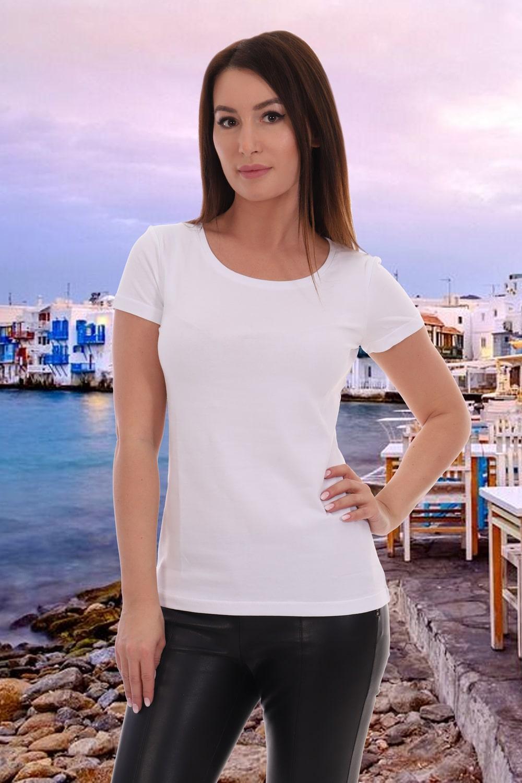 Белая футболка без рисунка