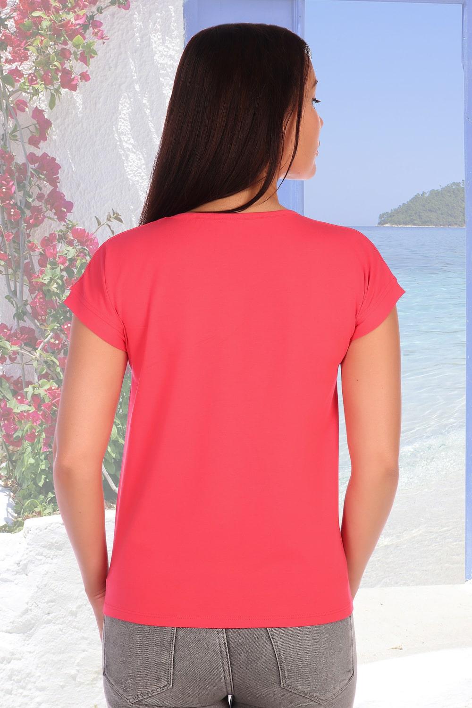 Коралловая футболка на лето