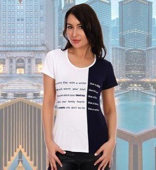 Молодежная футболка женская