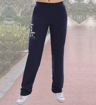 Синие брюки в спортивном стиле