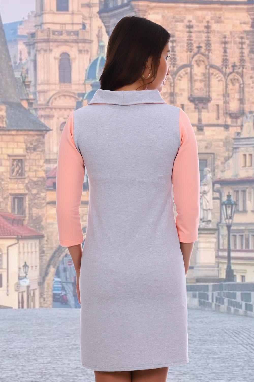 Двухцветное женское платье