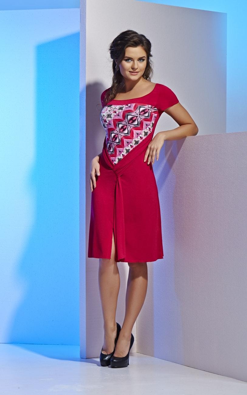 Красное платье Top Design на лето А4 024