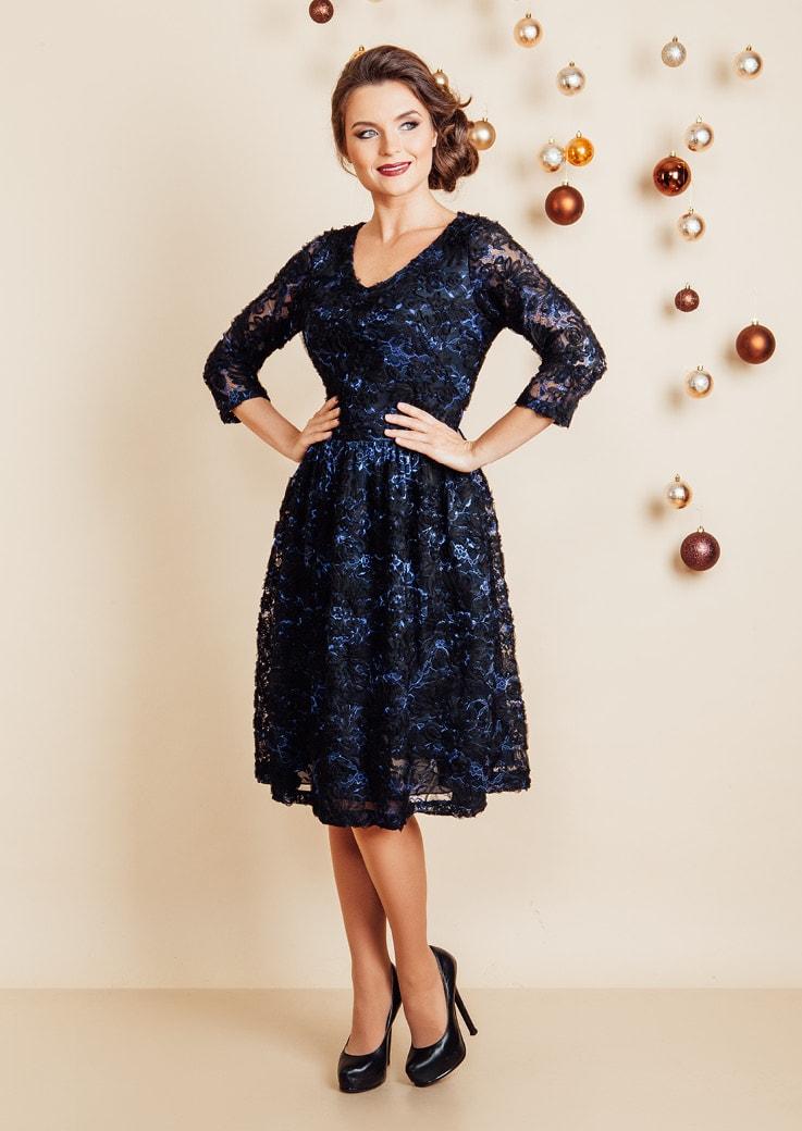Кружевное платье TopDesign NB6 02