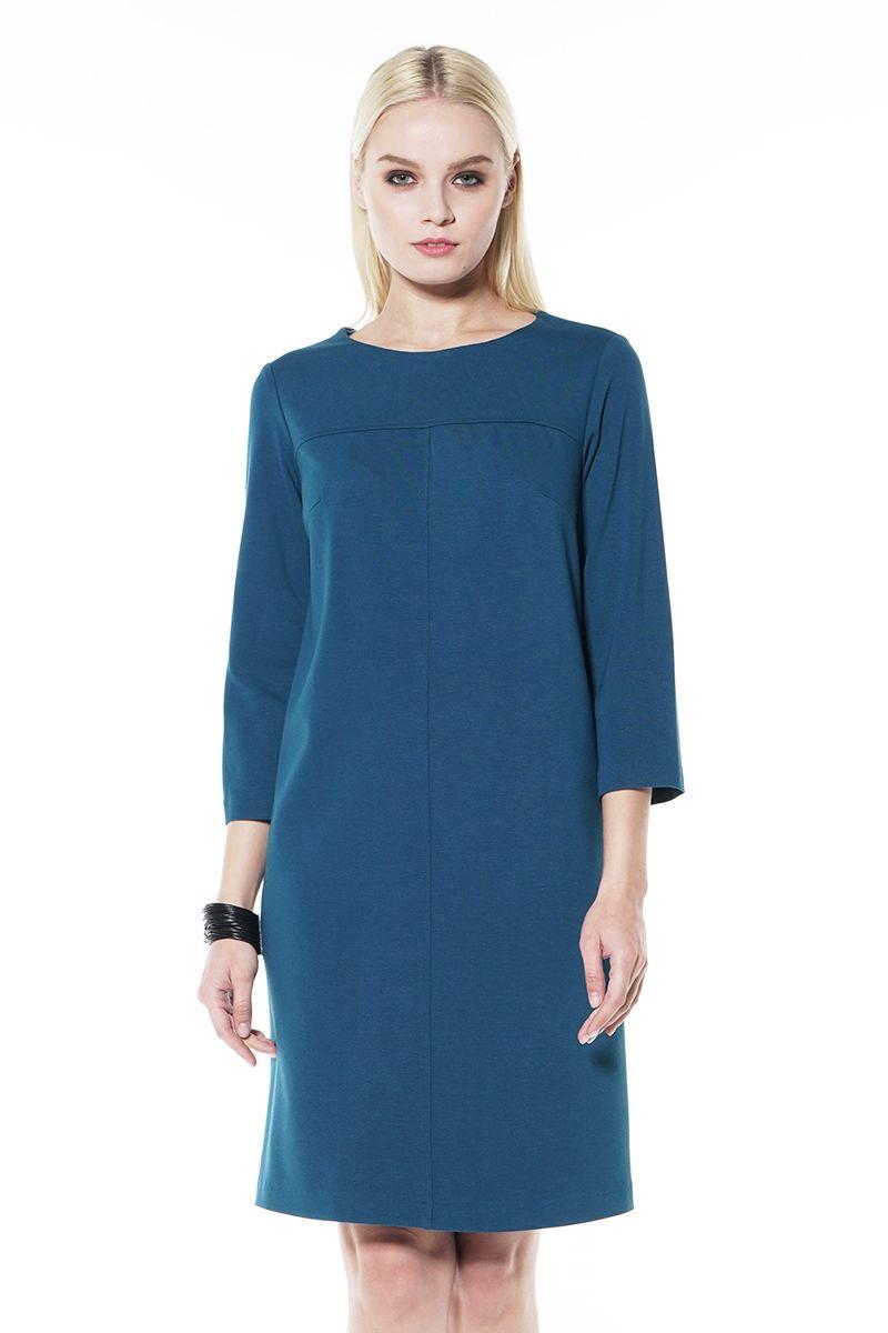Платье цвета морской волны Lala Style 1437