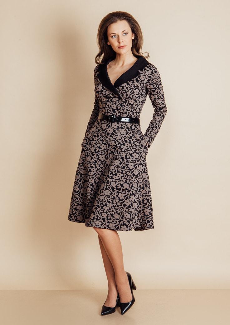 Платье с английским воротником Top Design B6 029