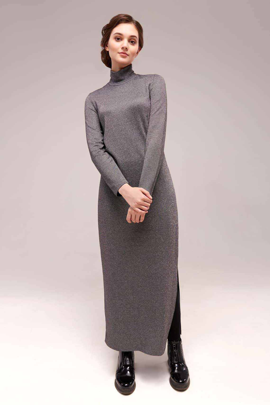 Модное платье с люрексом для девушки Top Design B7 058