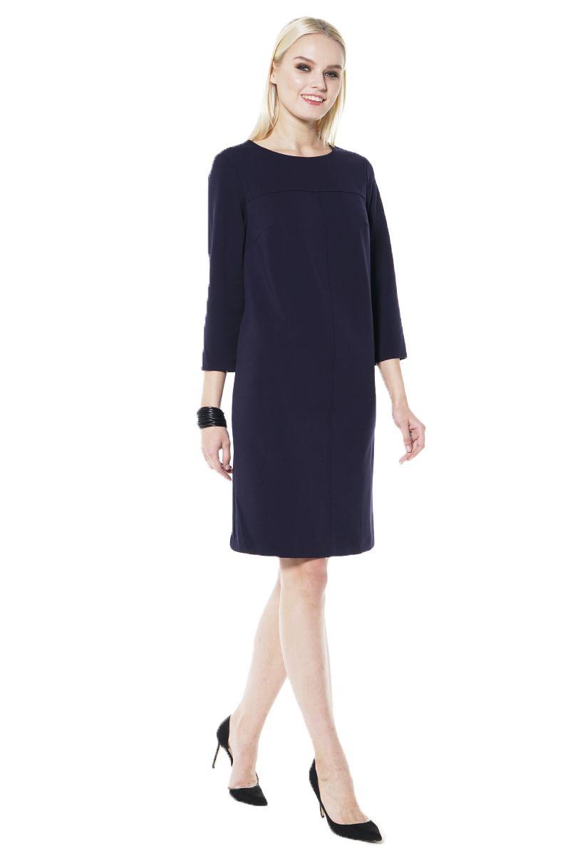 Темно синее платье Lala Style 1437