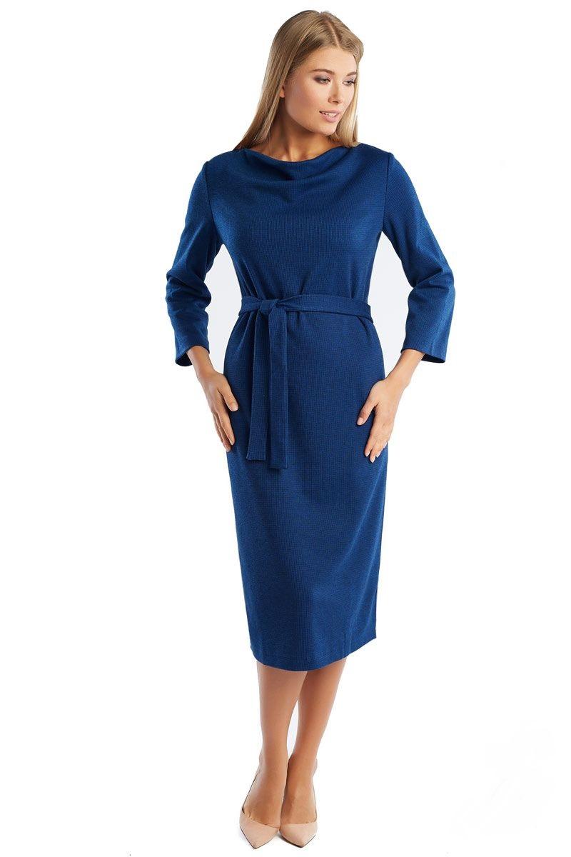 Женское синие платье LalaStyle 1295-118