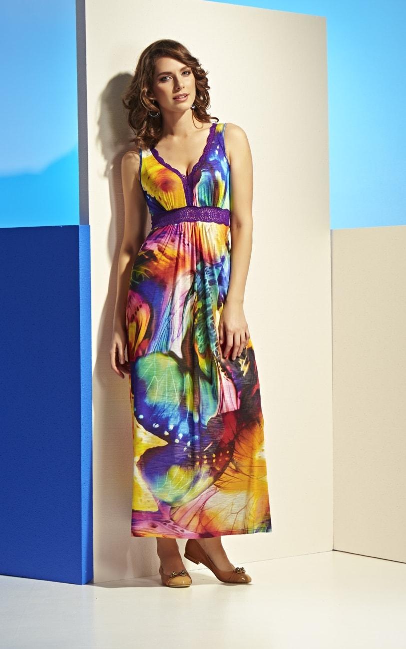 Яркое платье Top Desing А4 066