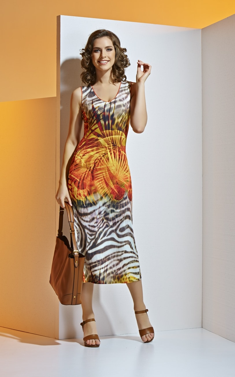 Яркое платье на лето А4 013