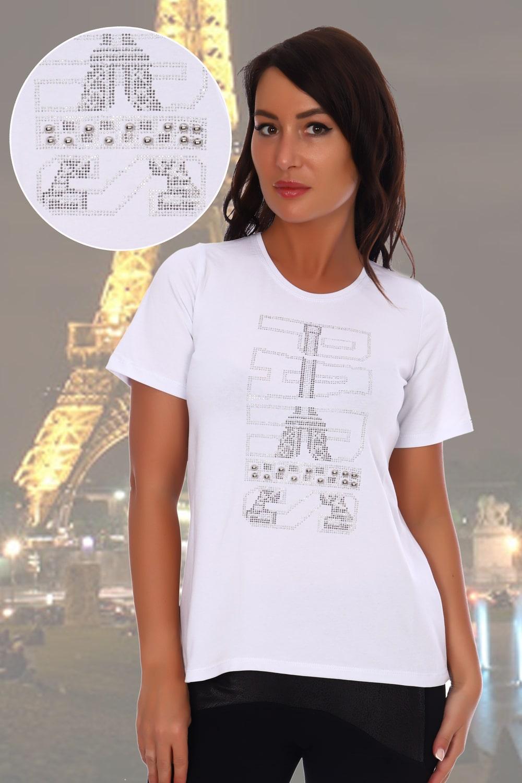 Белая футболка надписью Paris