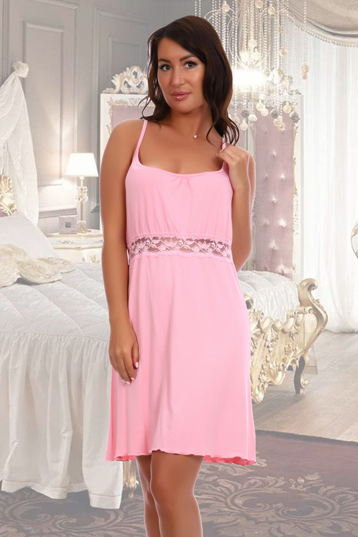 Нежная розовая сорочка ночная
