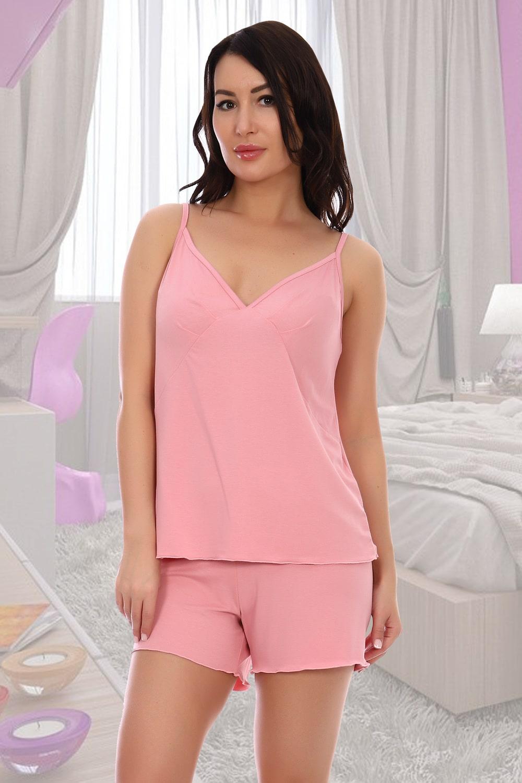 Розовая пижама из вискозы