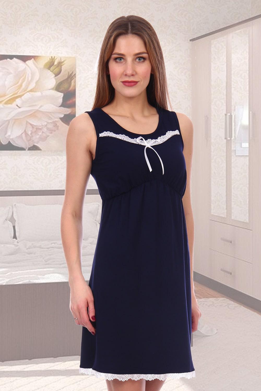 Синяя ночная сорочка для девушки