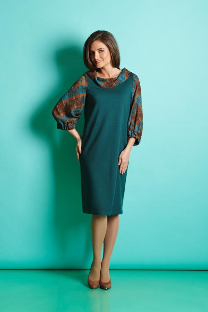 Платье свободного кроя TopDesign В5 060