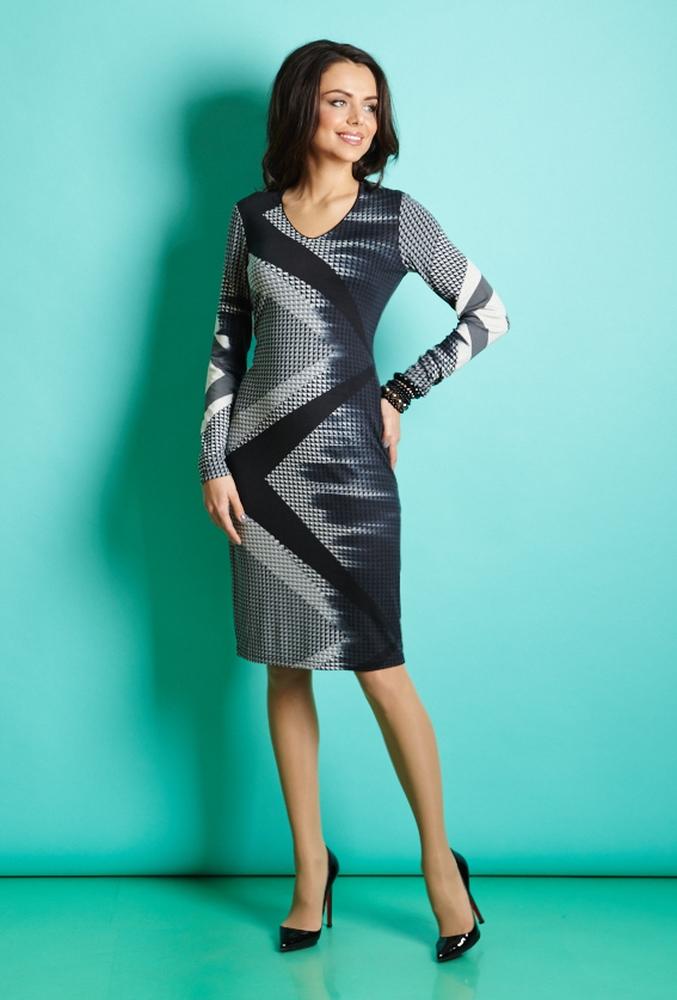 Тонкое осеннее платье TopDesign В5 003