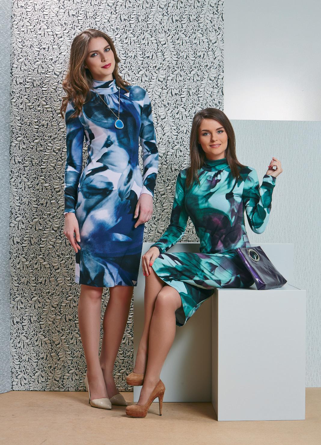 Платье из вискозы TopDesign В4 081