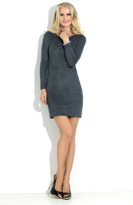 Коктельное платье с эффектом «под замшу» DonnaSaggia