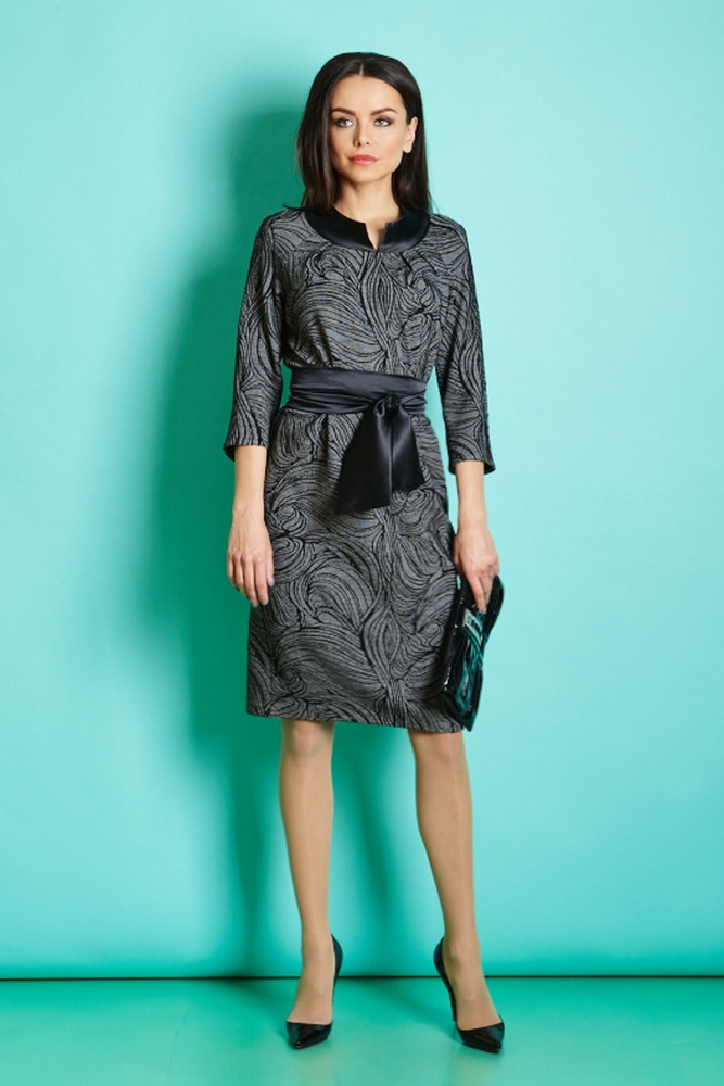 Вечерние платье с поясом Top Design РВ5 19