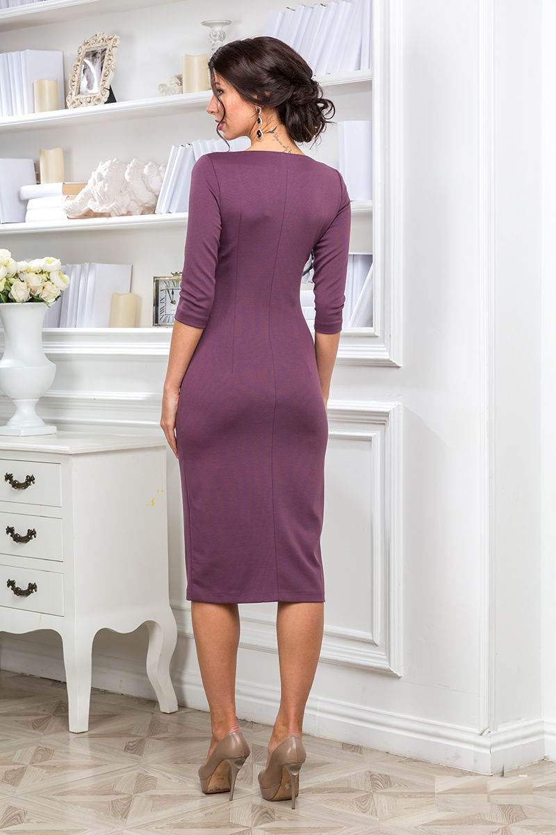 Платье с разрезом спереди LalaStyle 1133-85