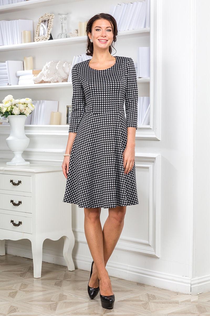 Платье в гусиную лапку Lala Style 714-07