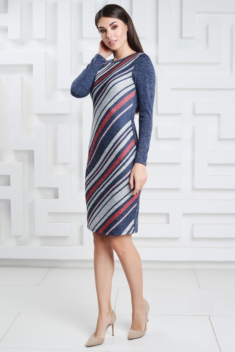 Теплое платье LalaStyle 1434