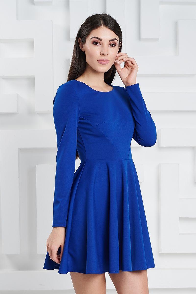 Мини платье LalaStyle 1370 цвета василек