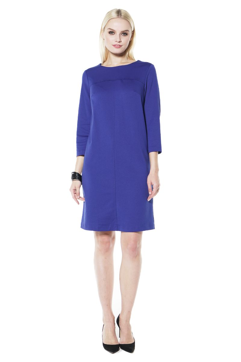 Васильковое платье Lala Style 1437