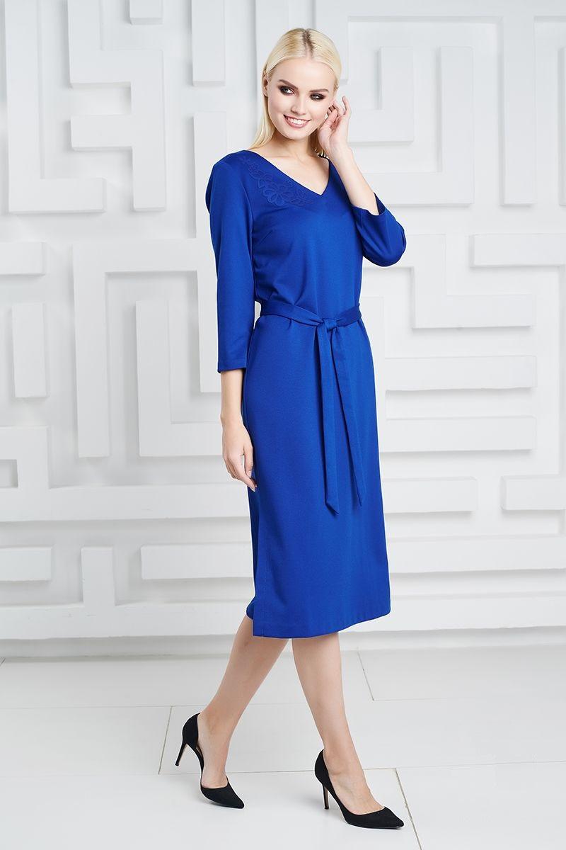 васильковое платье