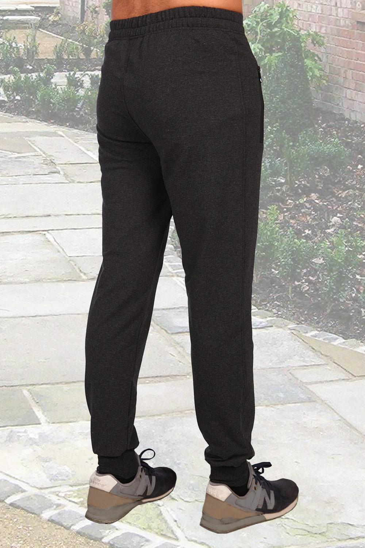 Серые брюки из футера