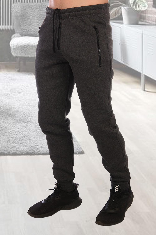 Теплые брюки цвета уголь