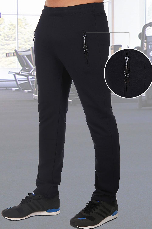 Темно-синие зауженные брюки спортивные