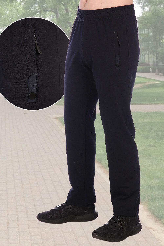 Темно-синие брюки в спортивном манере