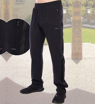 Мужские брюки с лампасами цвета антрацит