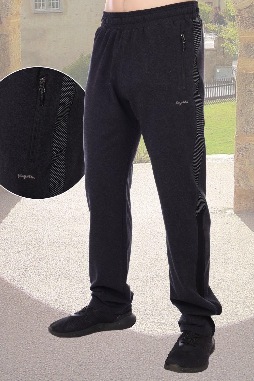 Мужские брюки с лампасами цвета уголь