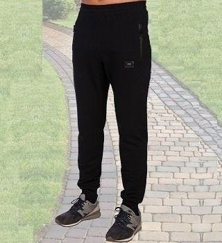 Темно-синие брюки из футера