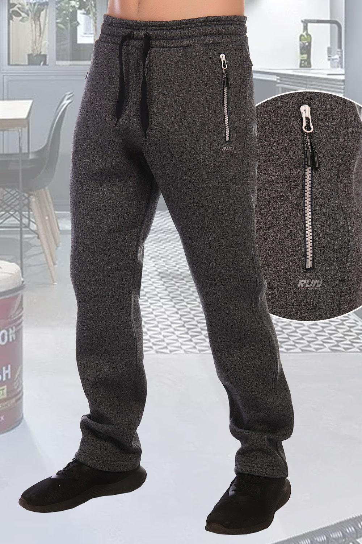 Теплые серые брюки
