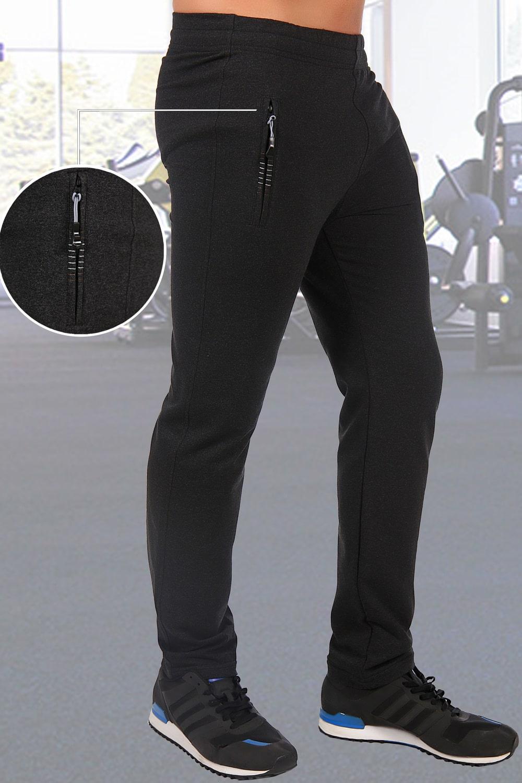 Зауженные серые брюки в спортивном стиле