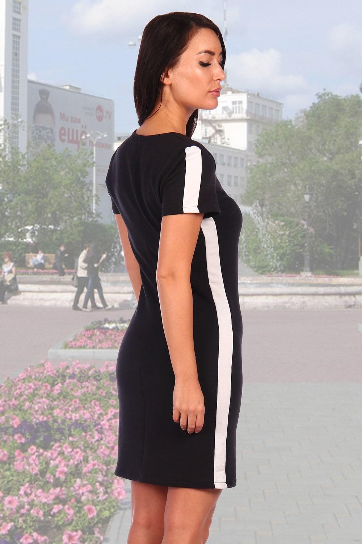 Черное платье с лампасами