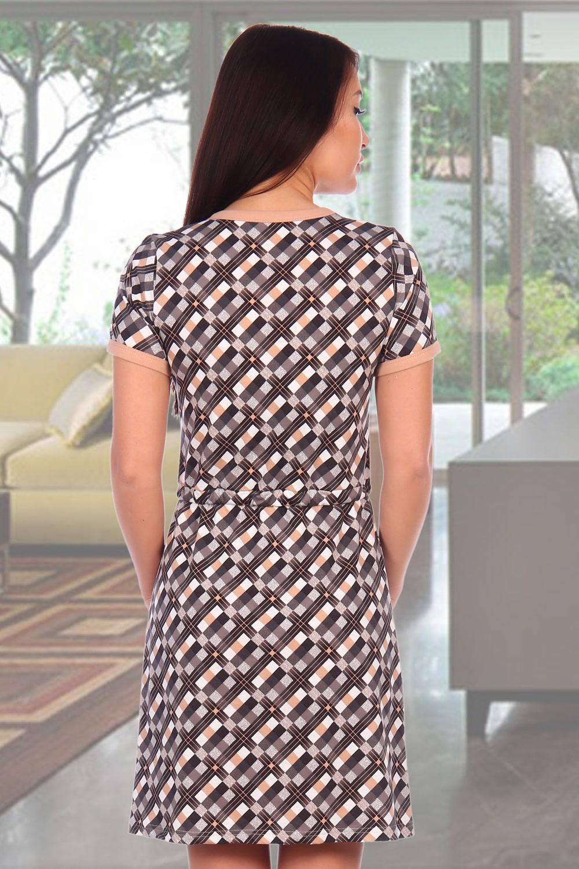 Домашнее платье с кратким  рукавом