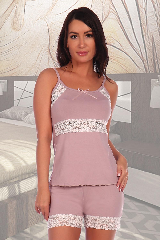 Нежная пижама с шортами женская