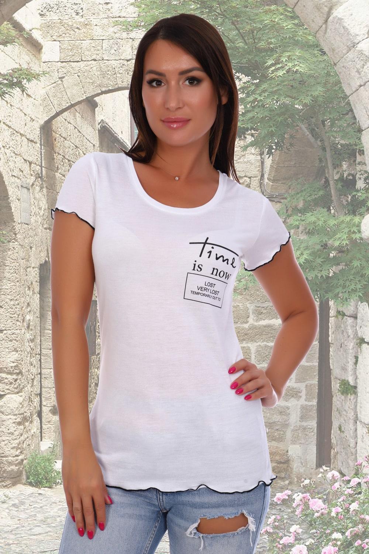 Трикотажная футболка женская