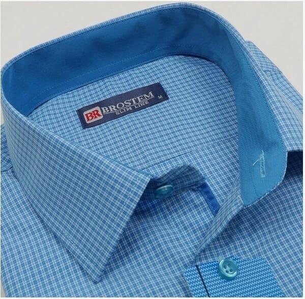 Стильная рубашка в мелкую клетку Brostem 3795-23