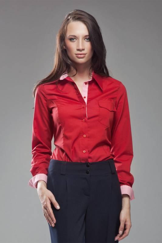 Красная женская рубашка Nife  K36