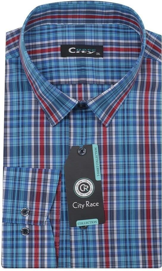 Приталенная рубашка в клетку City Race CK-1